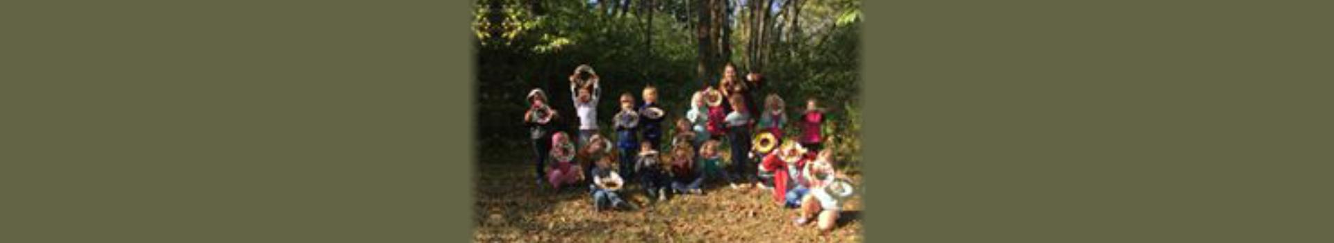 kids and teacher in outdoor