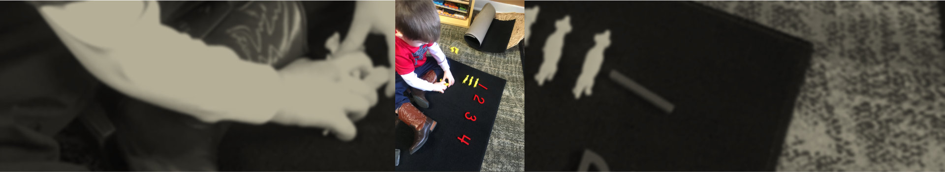 boy learning numbers