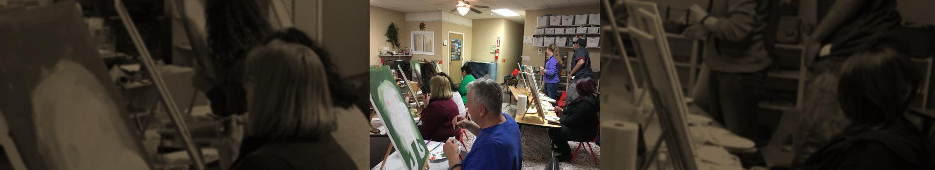 teachers doing painting